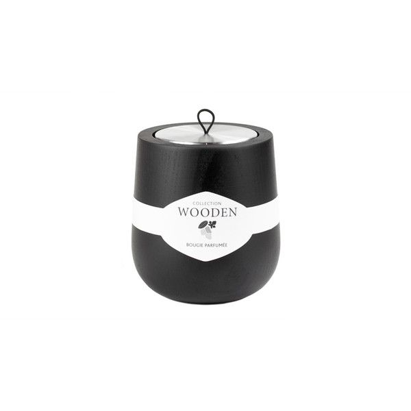 Antoine Phelouzat Hypsoe Paris Scented Candle In Wood Container ($81) ❤ liked on Polyvore featuring home, home decor, candles & candleholders, wood home decor, wood container, scented candles, black home decor and wooden container