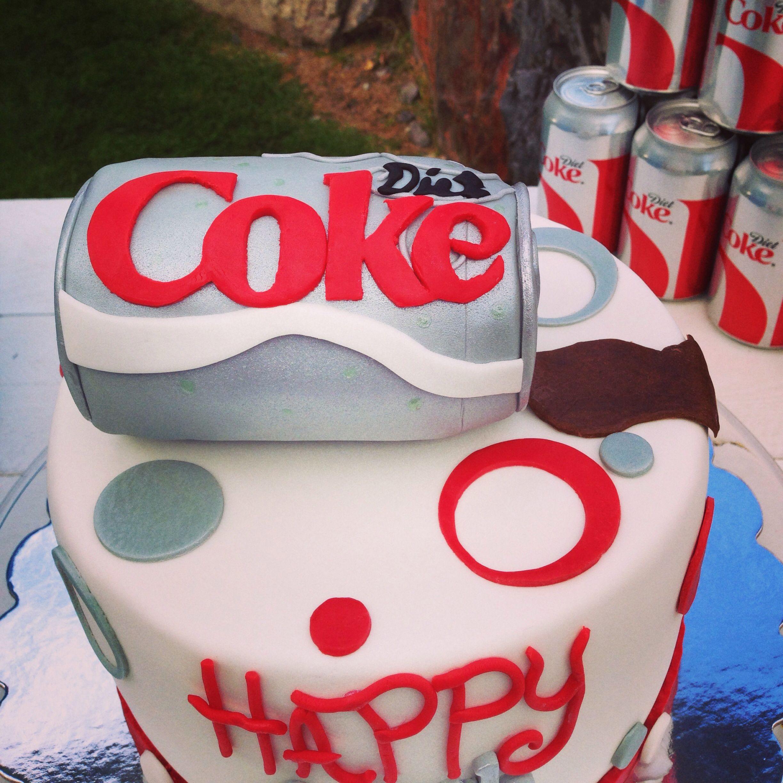 Diet coke birthday cake. Perfect cake from my husband ...