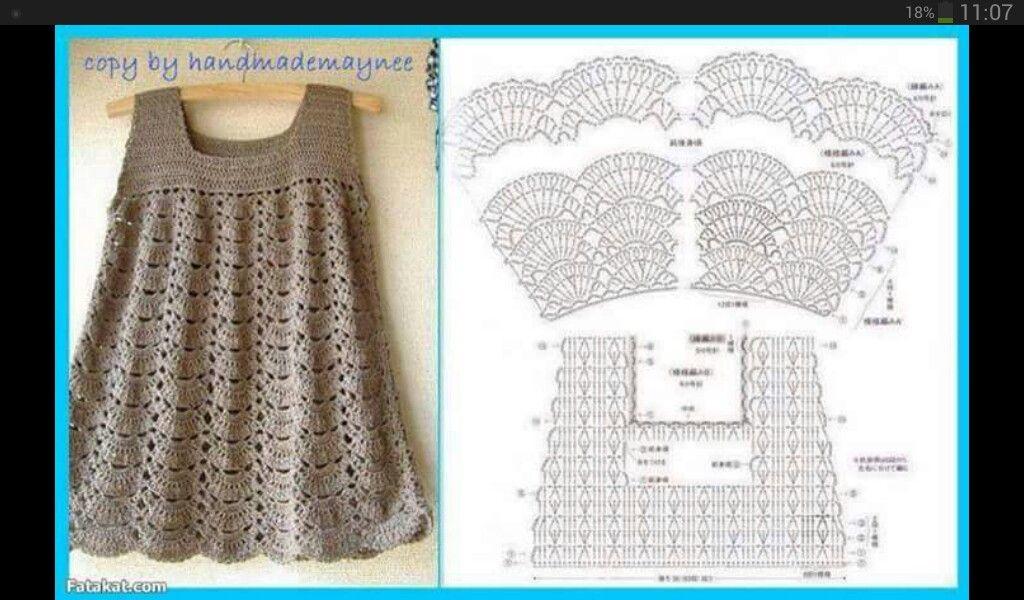 Vestido niña hilo crochet | ciao crochet | Pinterest | Croché ...