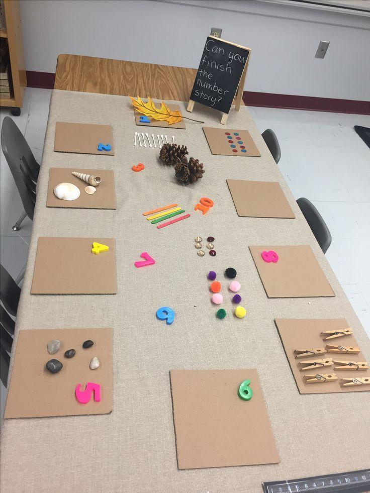 """Photo of Invitación de matemáticas para estudiantes de jardín de infantes. """"¿Puedes terminar la historia del número?"""""""