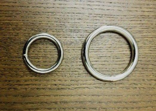 Rings 113341: Lot Of 10 25 50 Metal O-Rings Welded Nickel Plated ...
