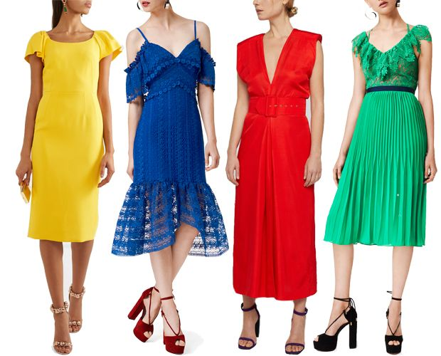 Bright And Bold Wedding Guest Dresses For Spring Summer 2017