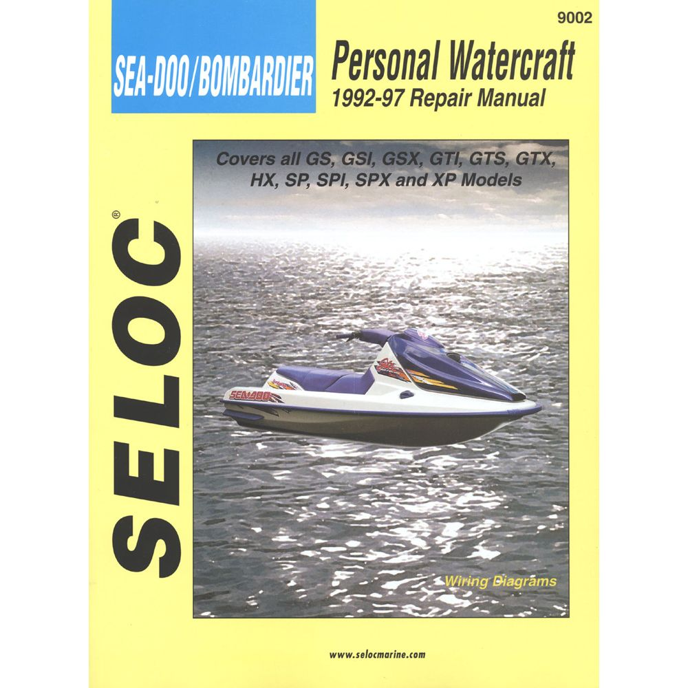 Seloc Service Manual - Sea-Doo/Bombardier - 1992-97 -  https://www.boatpartsforless.com/shop/seloc-service-manual -sea-doobombardier-1992-97/