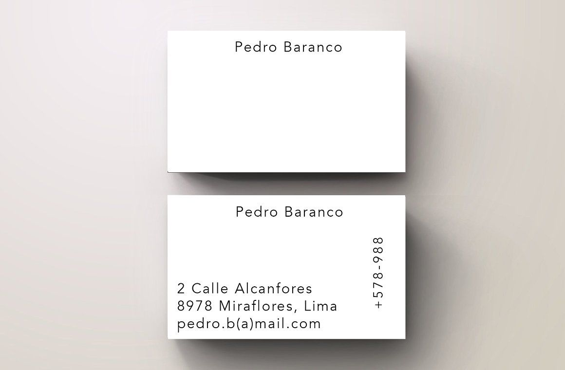 Baranco Simple Trendy Business Card Business Cards