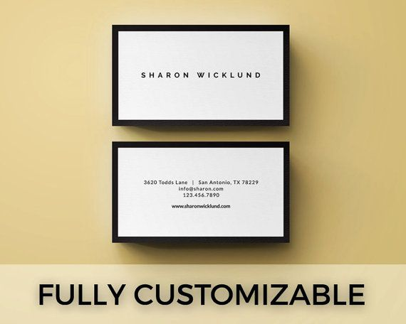 Premade Business Card Template Simple Elegant By Lucalogos Things