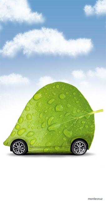 #greeneergy #energy #car #green Diseño Publicitario - Montecruz.es