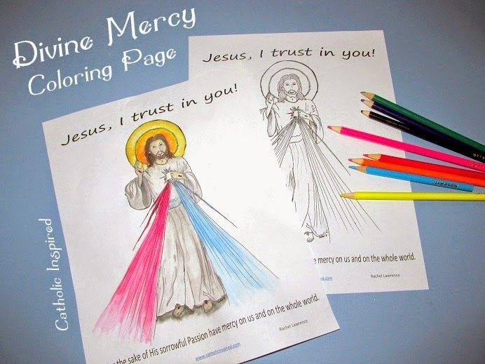 Divine Mercy Coloring Page Catholic Inspired God Is Good