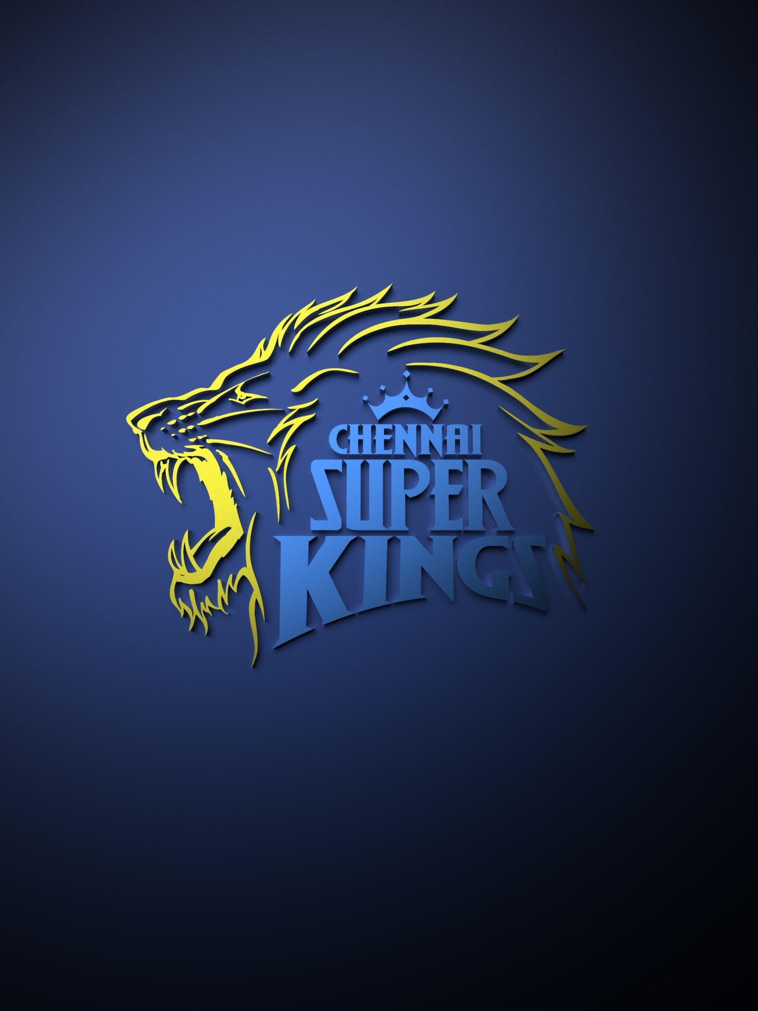 Chennai Super Kings IPL metallic logo poster painting