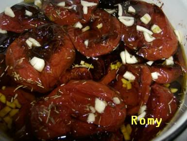 Tomates secos no forno