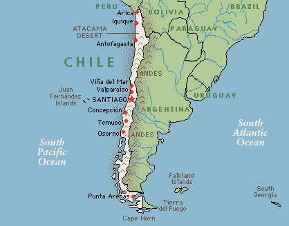 Chile Map Google map of Chile chile Pinterest