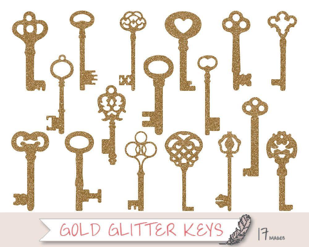 gold key clipart glitter key silhouette clipart gold skeleton key rh pinterest com skeleton key clipart black and white Heart Skeleton Key