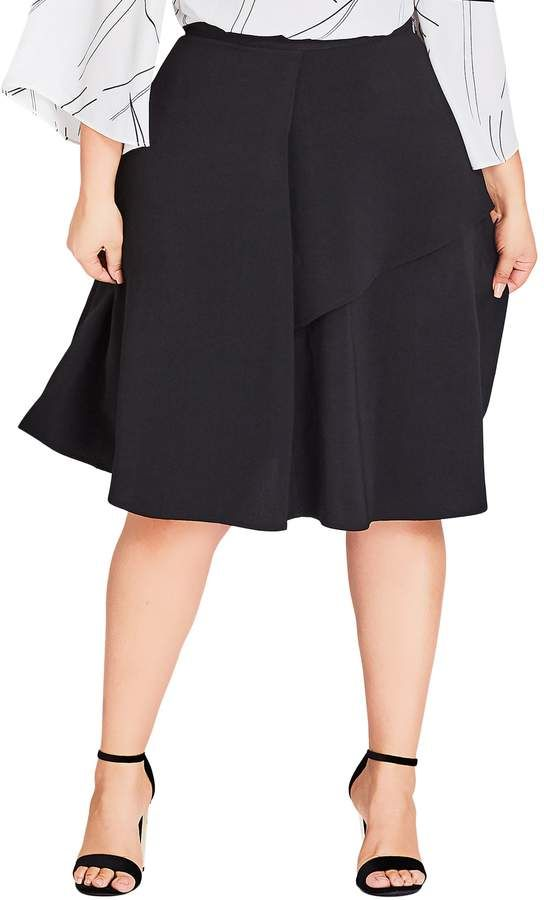 9fa9c35a City Chic Rimple Flared Skirt - Plus Size | Plus Size Skirts ...
