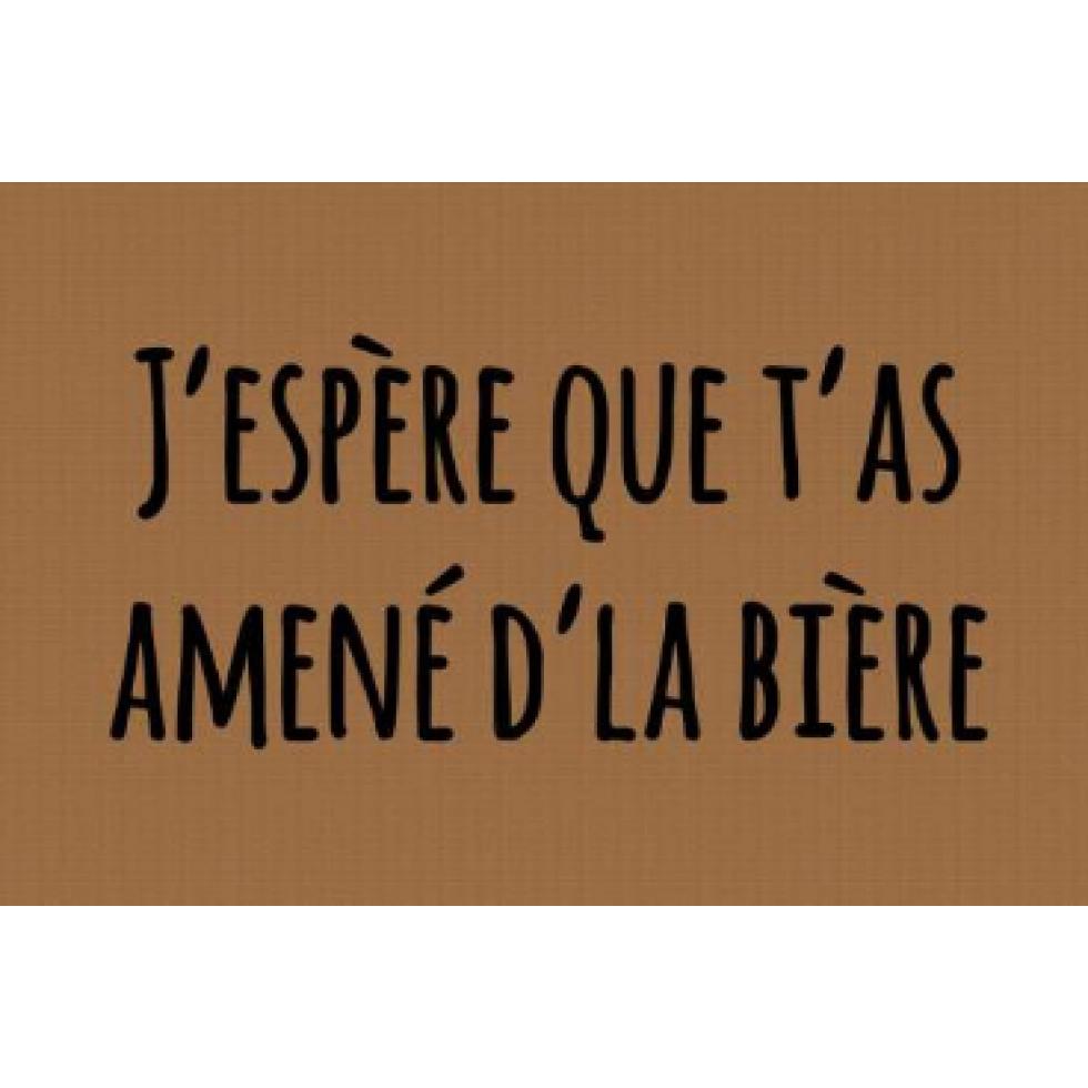 Tapis D Entree Exterieur Humoristique Illustrant Un Petit Memo J Espere Que T As Amene D La Biere Tapis D Entree Tapis Biere