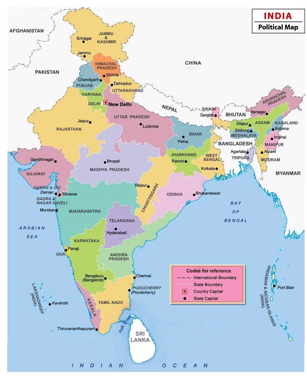 state of india map India Map States And Capital States And Capitals Map India Map state of india map