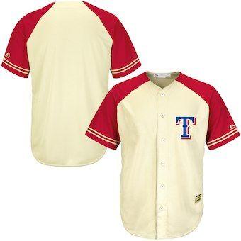 010447337 Texas Rangers Majestic Cool Base Ivory Fashion Team Jersey - Cream ...