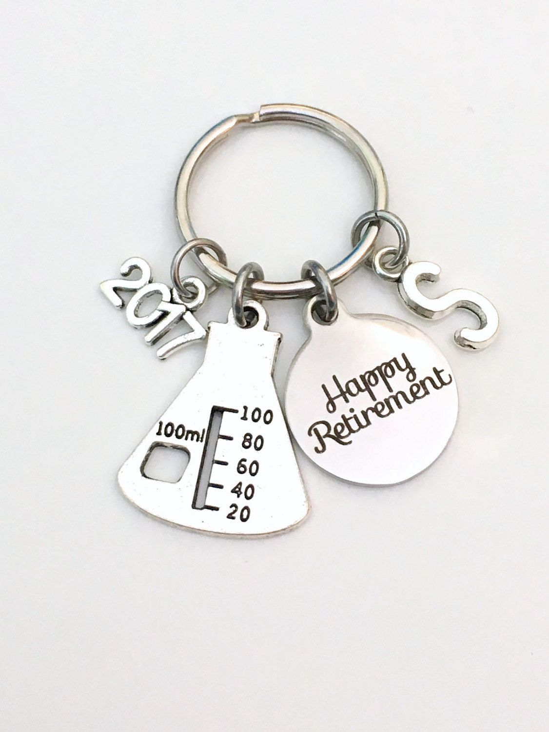 Retirement Gift For Chemist Laboratory Tech Keychain