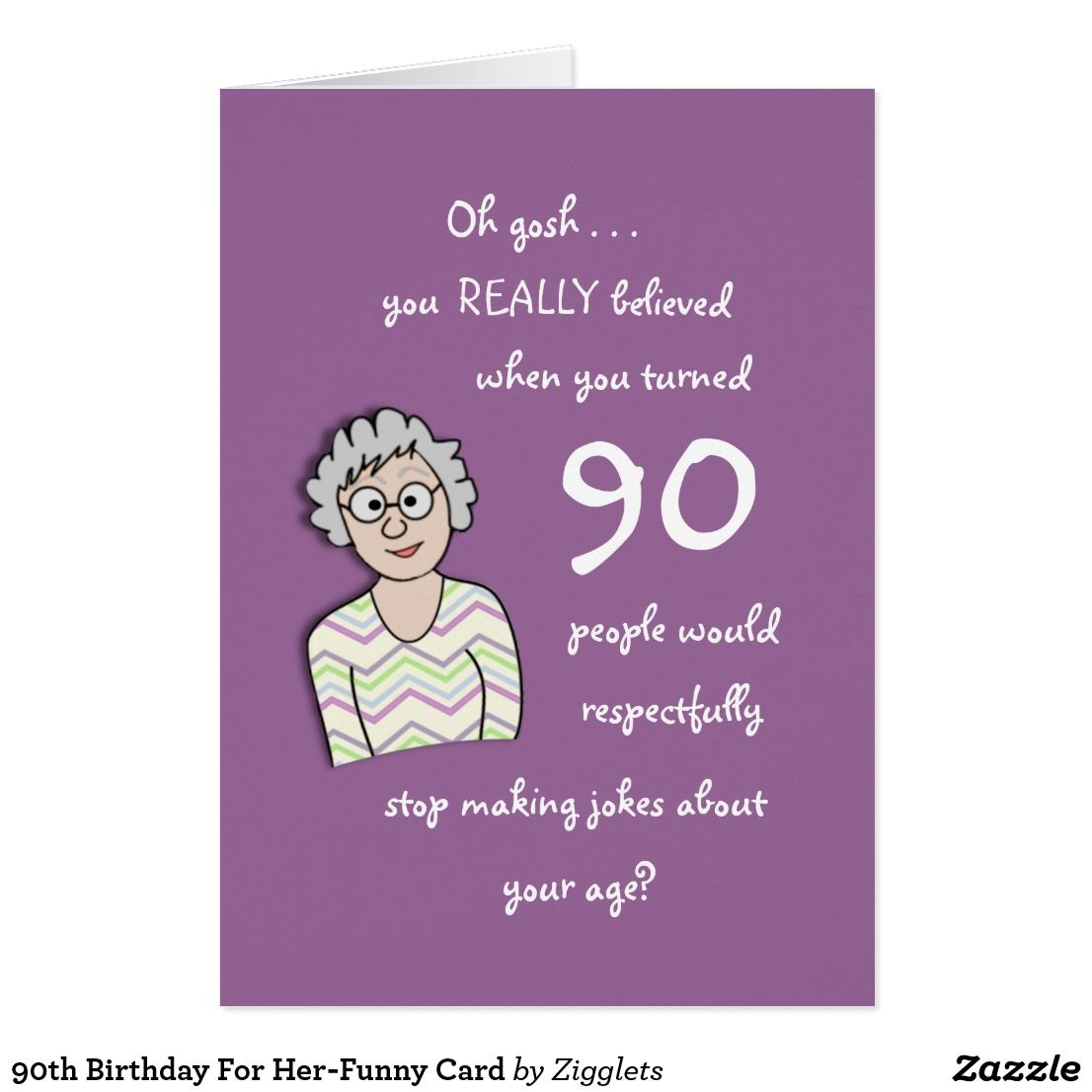 90th Birthday For Her Funny Card Images Cards