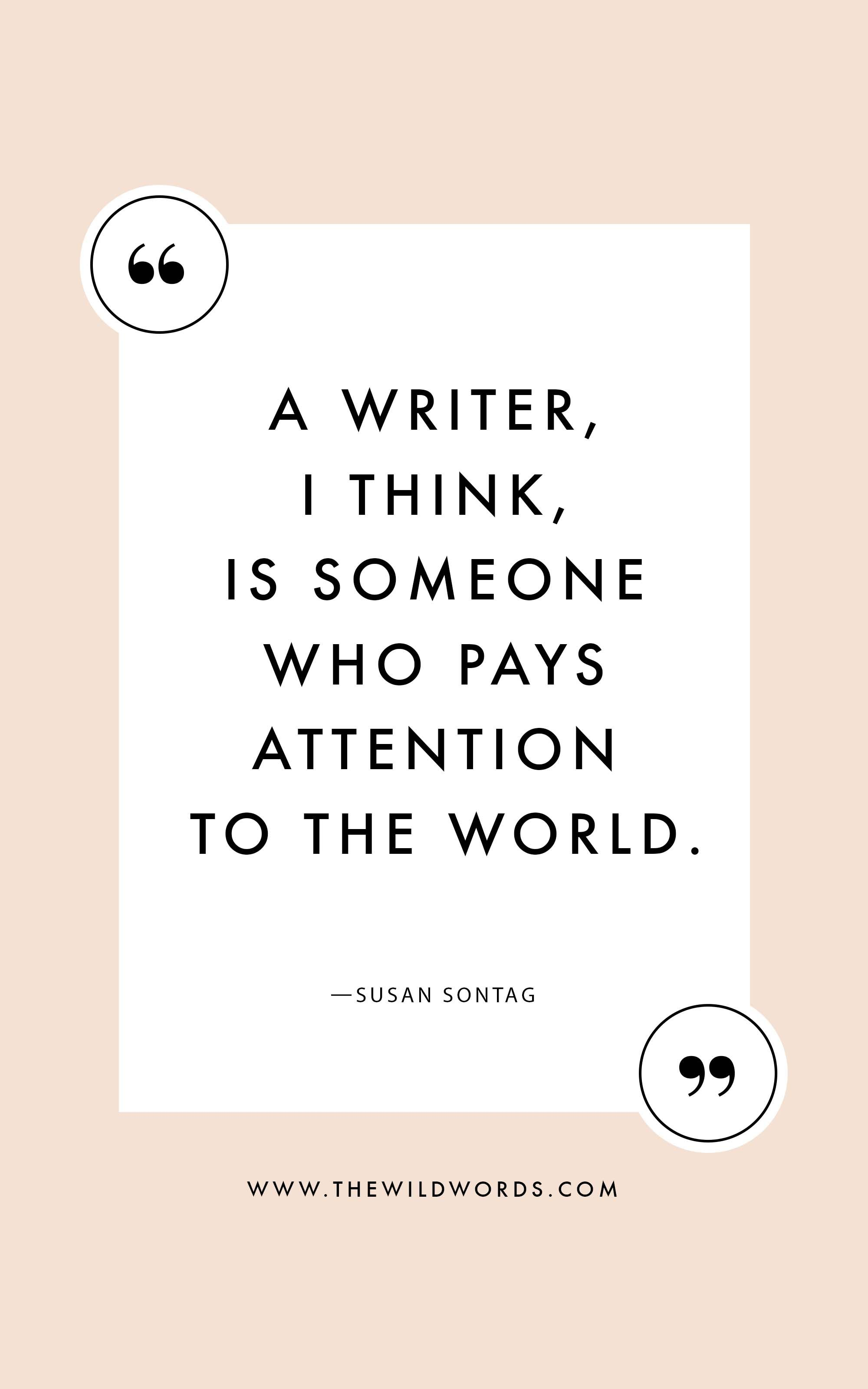 10 Inspirational Quotes For Writers Via