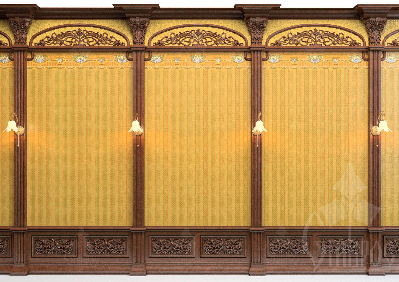 Оформление стеновой панели с помощью декора компании \