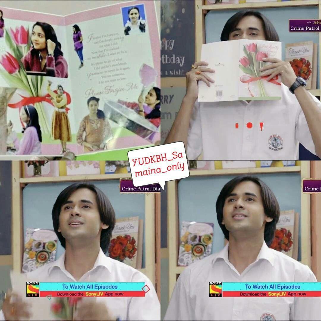 sameer's handmade card for naina (90's ka pyar)   Sameer and