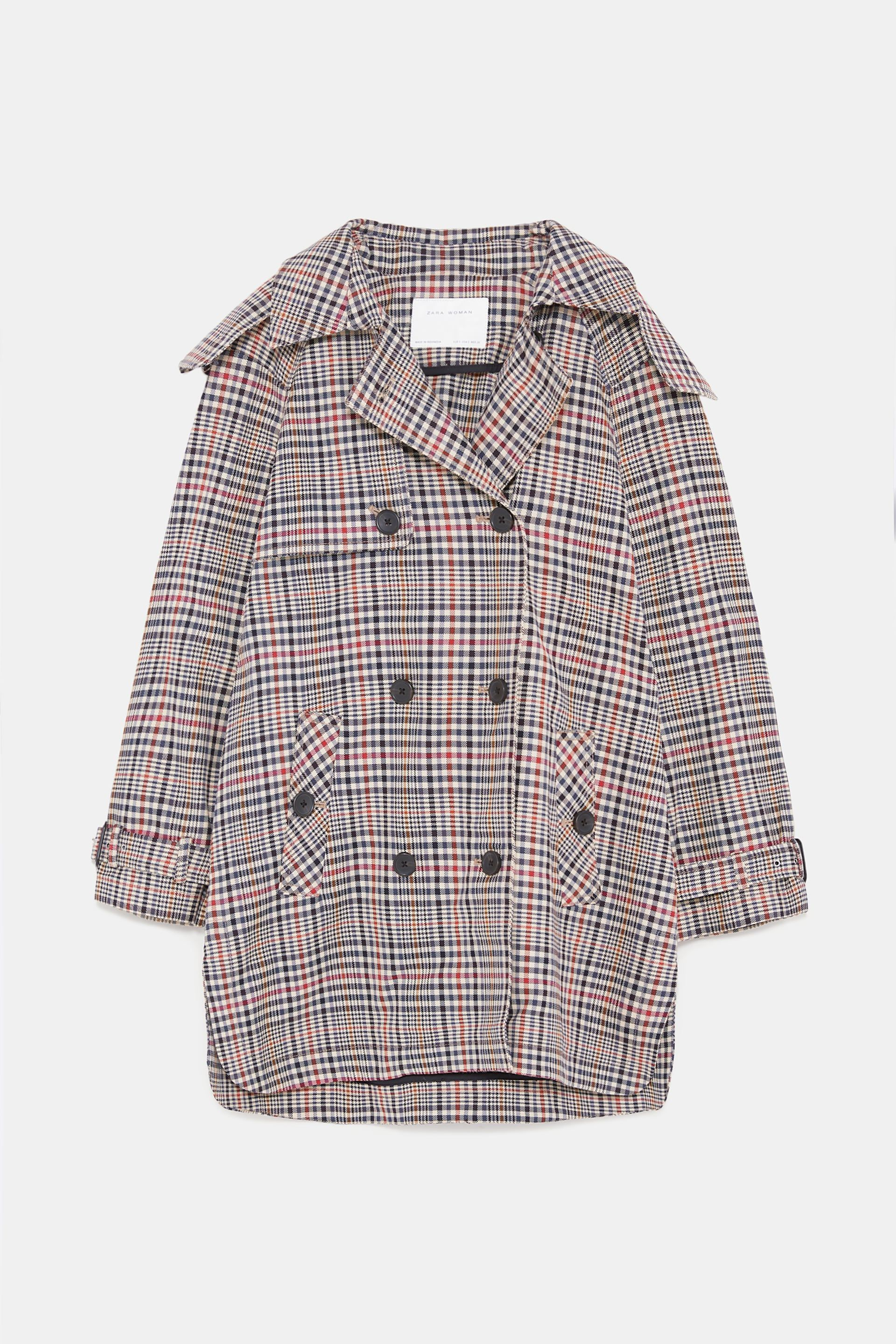 8900ce54 SHORT CHECK TRENCH COAT from Zara | THE WISH LIST in 2019 | Zara ...