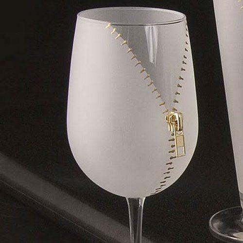 verre fermeture eclair verre a boire