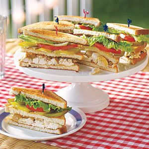 Chicken Salad Club Sandwiches | AllYou.com