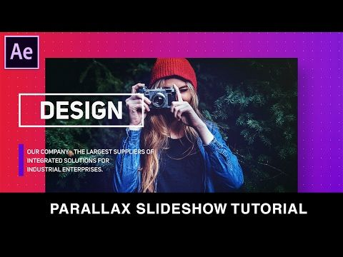 After Effects Tutorial : Simple Parallax Slideshow Animation
