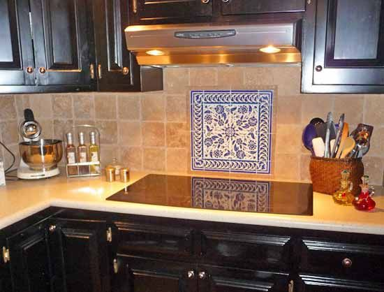 Flower Tile Backsplash Backsplash Tile Decorative Tile Kitchen
