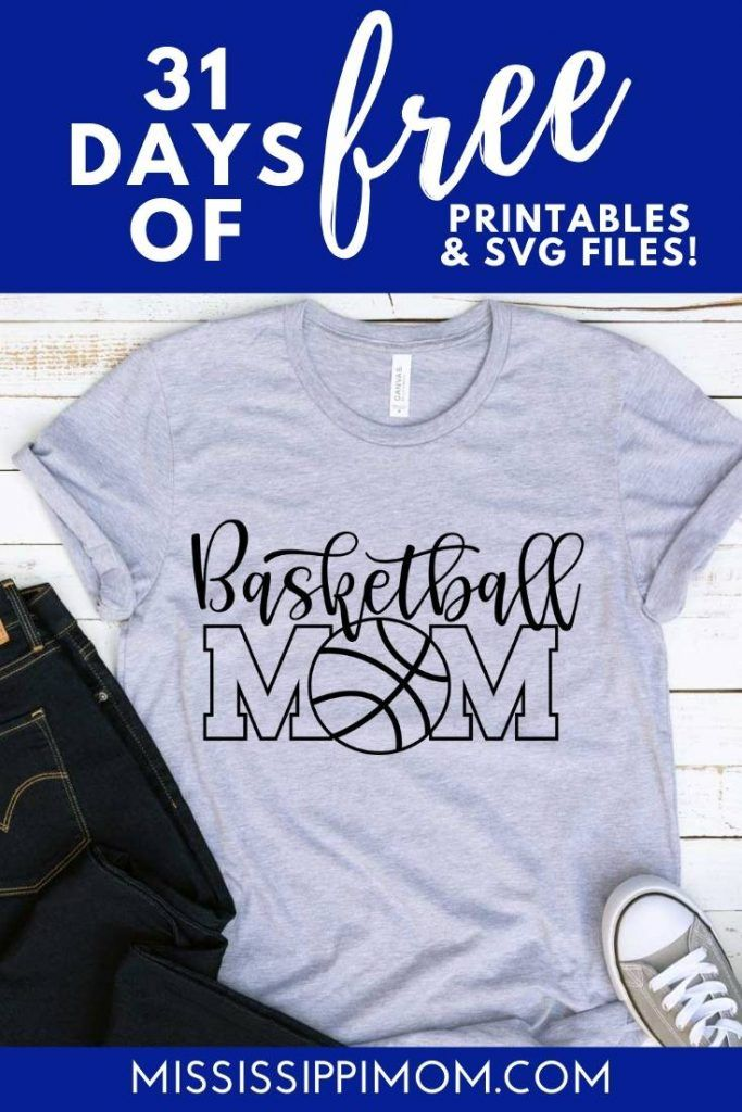 Get ready for the game with this Basketball Mom SVG