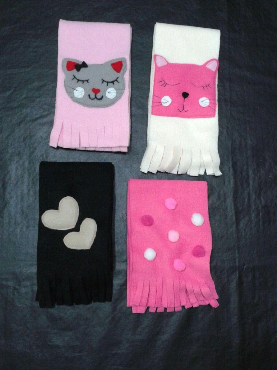 0cd0f37d6ae65 Resultado de imagen para bufandas de polar con motivos infantiles ...