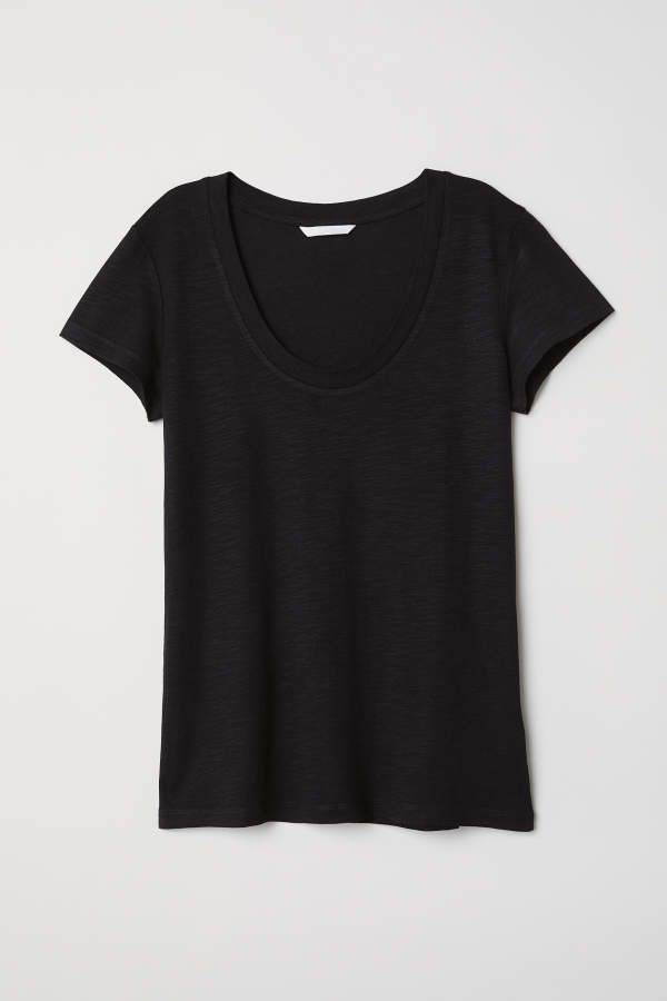 f0487440 H&M H & M - Modal-blend T-shirt - Black - Women | Products | Shirts ...