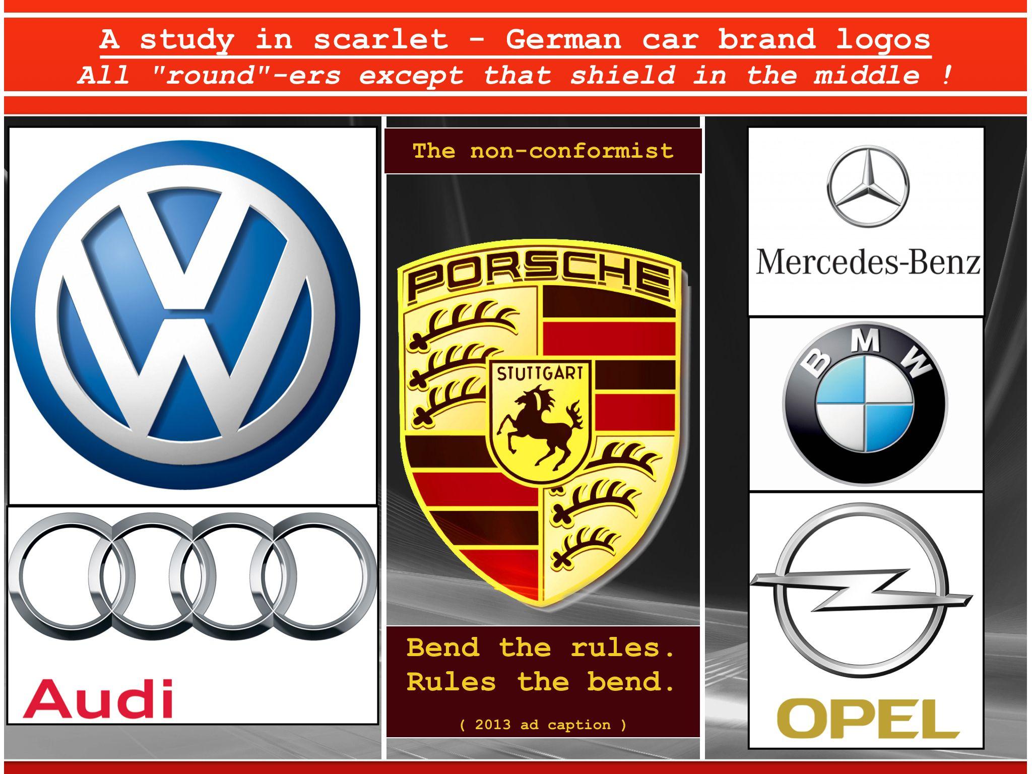 German Car Logo Study Things I Like Cars German Car Logos