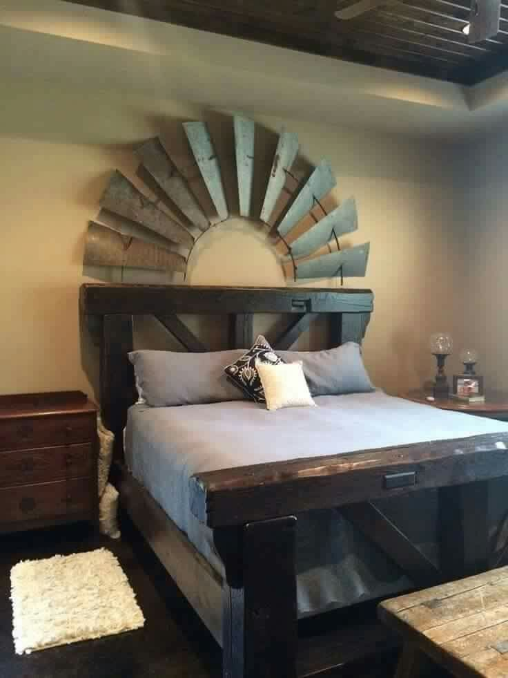 windmill headboard country bedroom primitive neutral colors rh pinterest at