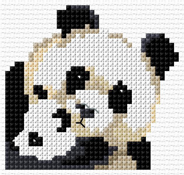 Cross Stitch Chart Kit 3 Panda Cubs