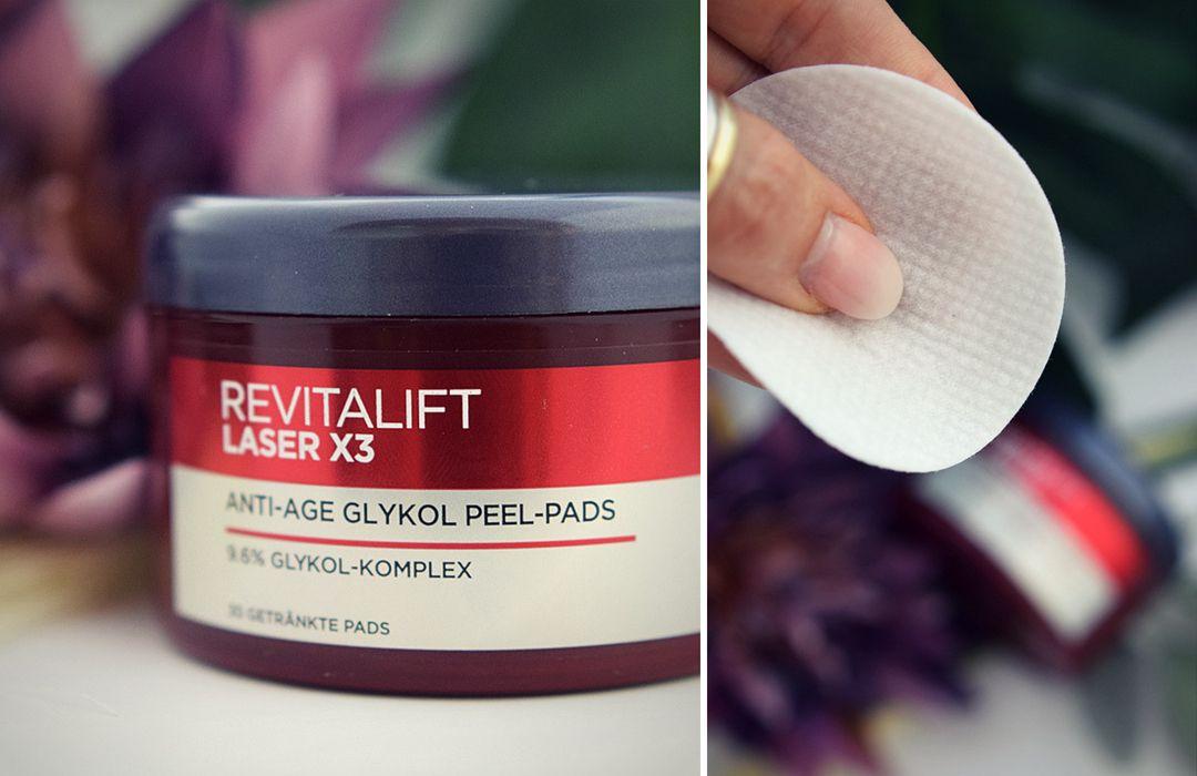 L'Oréal Revitalift Laser X3 Peel Pads plus Tagespflege..