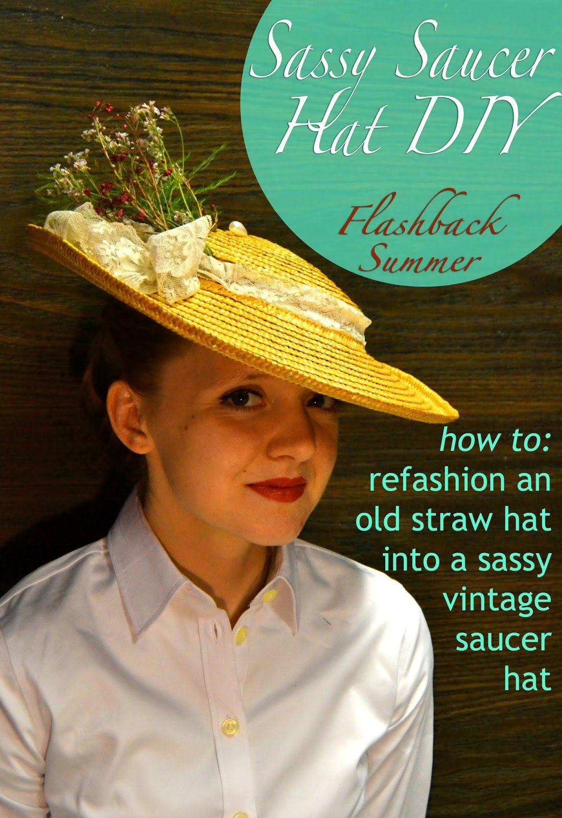 I Ve Got A Fun Diy Refashion Tutorial On How To Turn An Old Cheap Straw Hat Which I Foolishly Forgot To Take A Proper Diy Hat Straw Hat Diy Diy Straw