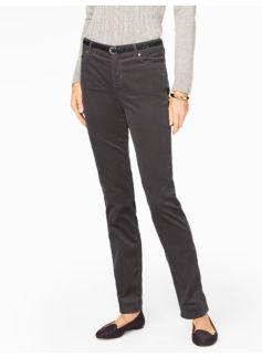 Flawless Five-Pocket Velveteen Straight-Leg