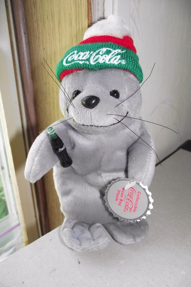 Coca Cola Plush Seal In Ski Cap Winter Collectible Coke Stuffed Animal New  With  CocaCola 5f6364fc9d00