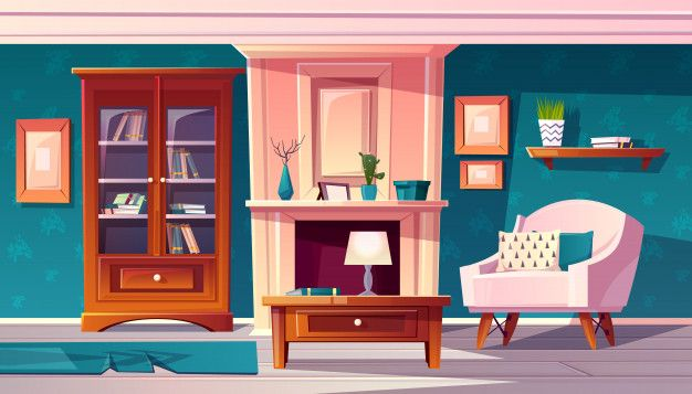 Download Cartoon Luxury Cabinet With Fireplace And Molding On Wall For Free Animation Background Anime Scenery Wallpaper Cartoon Background