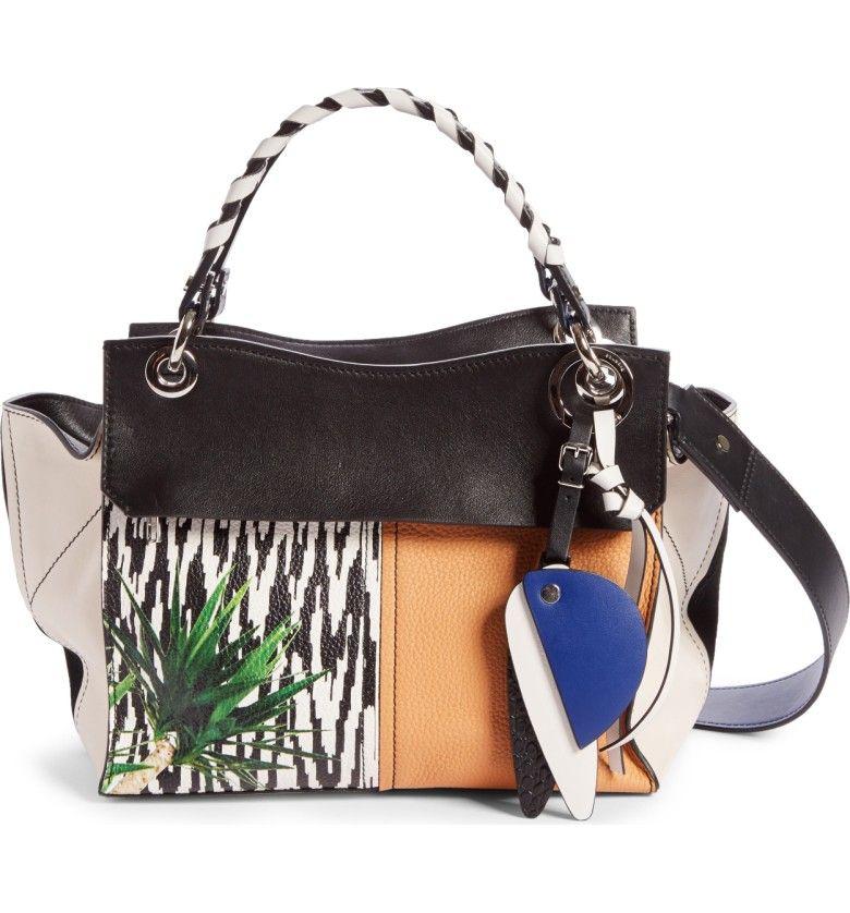 Proenza Schouler Curl Mix Print Leather Shoulder Bag Nordstrom
