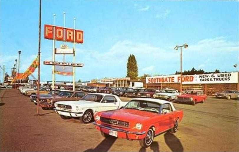 Mustang Ford Dealership Vintage Muscle Cars Car Dealership Mustang