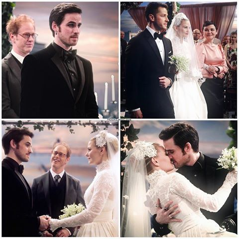 Captain Swan wedding | Once Upon A Time | Captain swan, Hook, emma