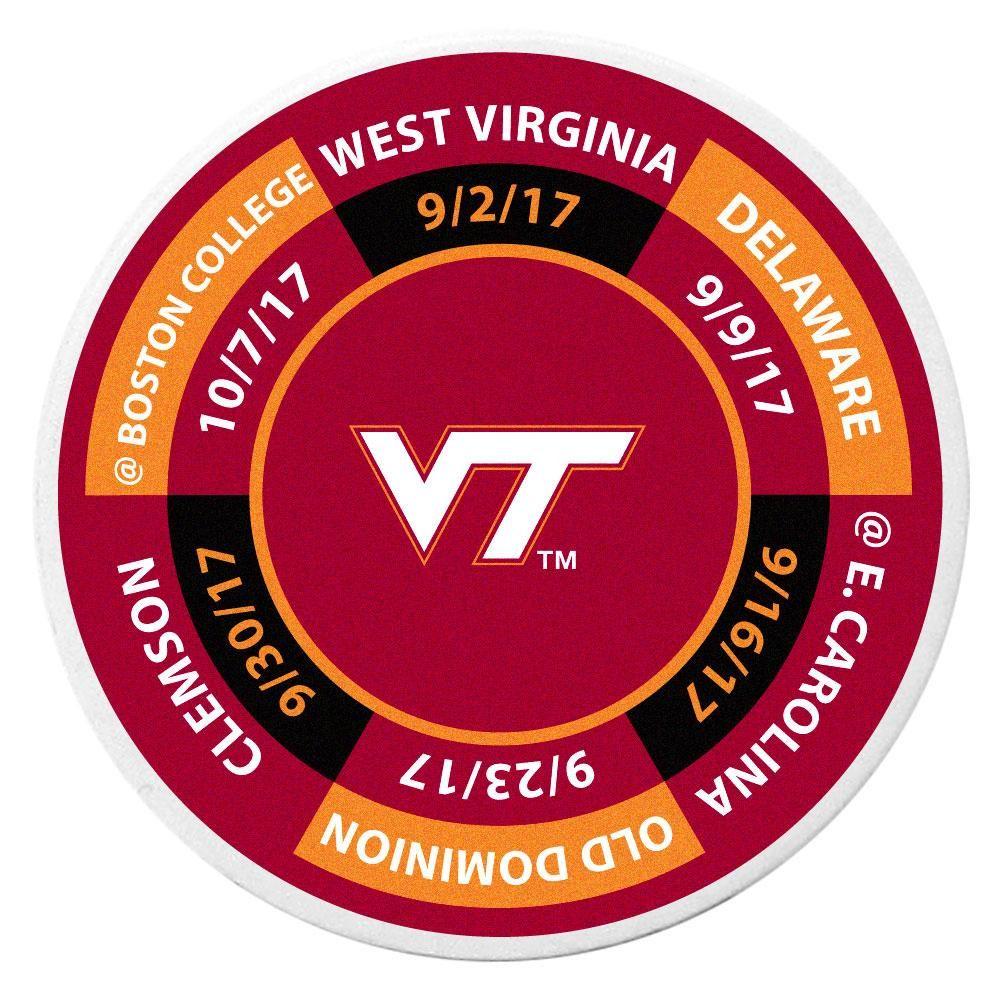 Virginia Tech Hokies Schedule Golf Ball Marker Coin (With