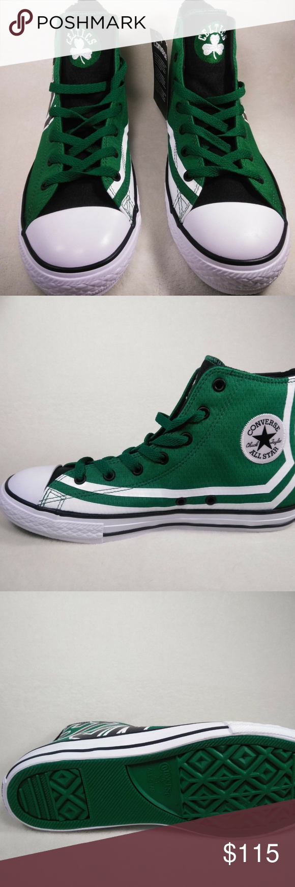 e41ee32ed04 Limited Edition Boston Celtics NBA Converse All St Limited Edition Boston  Celtics NBA Converse All Star Chuck Taylor Green White Sz 4.No box.