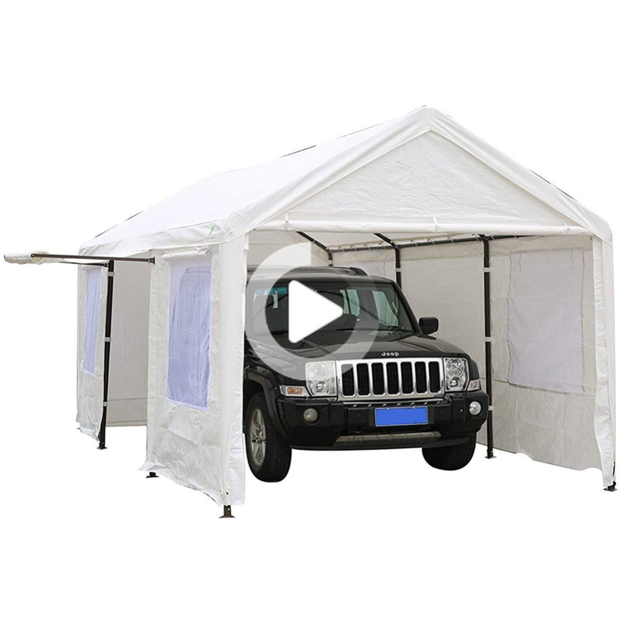 SORARA 10 x 20 ft Heavy Duty Carport Garage Car Shelter