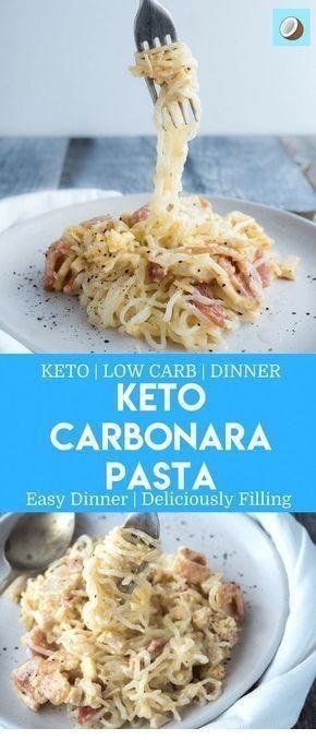 Keto Carbonara Pasta #health #fitness #nutrition #keto #diet #recipe #30DayKetoDietPlan