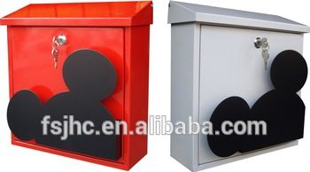 Foshan Jhc 2060b Mickey Mouse Mailbox Metal Decorative Letterbox Two Color Type Wall Mounted Postbox Buy Three Color Type Lovely Mailbox Mickey Mouse Mickey