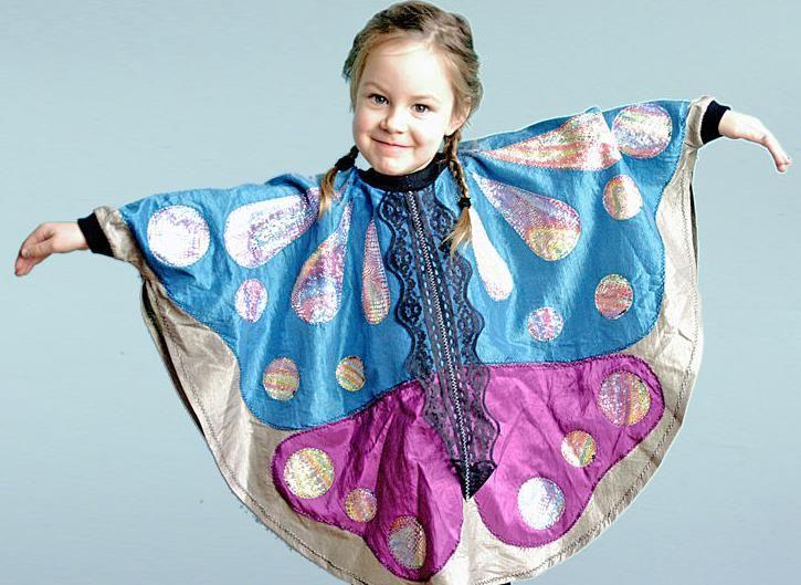 Mit diesem Kostüm werden Kinder zum Schmetterling - Schnittmuster ...
