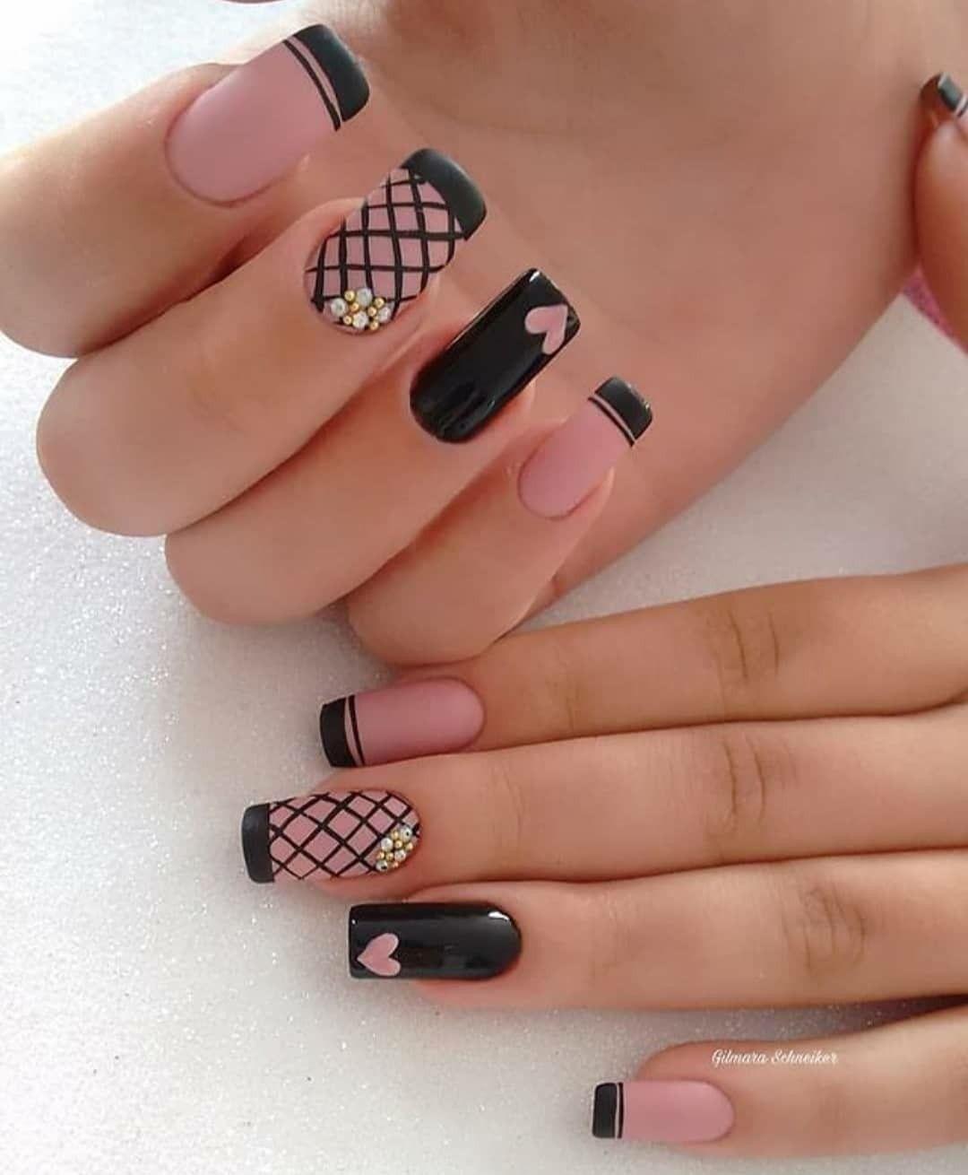 Curso de manicure pro   Black nail designs, Nail art, Perfect nails